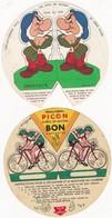"""Lot De 2 Chromos Montage Découpage : """"Mère PICON"""" - Les Amis De Mickey ( Grincheux Et Cycliste ) - Werbung"""