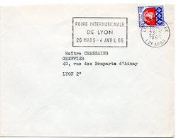 RHONE - Dépt N° 69 = LYON GROLÉE (2e ARR) 1966 = FLAMME Non Codée = SECAP '1966 / FOIRE INTERNATIONALE' - Postmark Collection (Covers)