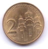 SERBIA 2014: 2 Dinara, KM 55 - Serbia