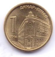 SERBIA 2014: 1 Dinar, KM 54 - Serbia