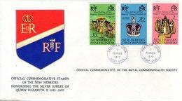 Nouvelles Hébrides. Enveloppe Fdc. Silver Jubilee Queen Elizabeth II - FDC