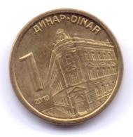 SERBIA 2013: 1 Dinar, KM 54 - Serbia