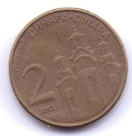 SERBIA 2012: 2 Dinara, KM 55 - Serbia