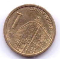 SERBIA 2010:  1 Dinar, Magnetic, KM 48 - Serbia