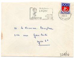 RHONE - Dépt N° 69 = LYON GROLÉE (2e ARR) 1965 = FLAMME Non Codée = SECAP Illustrée '  LABORATOIRES / PORTES OUVERTES ' - Postmark Collection (Covers)