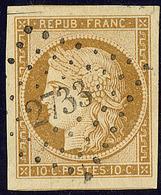 No 1, Obl Pc 2733, Deux Voisins, Coup De Ciseaux En Marge (loin Du Filet), Superbe - 1849-1850 Ceres