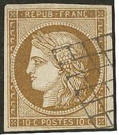 No 1c, Obl Grille, Petite Marge En Bas Mais TB - 1849-1850 Ceres
