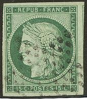 No 2, Un Voisin, Nuance Foncée Obl étoile, Jolie Pièce. - TB - 1849-1850 Ceres