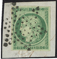 No 2, Obl étoile Sur Petit Fragment. - TB - 1849-1850 Ceres