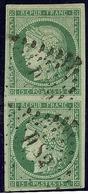 """No 2, Paire Verticale Obl Losange """"DS 2"""", Jolie Pièce. - TB. - R - 1849-1850 Ceres"""