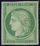(*) No 2a, Vert Clair, Jolie Pièce. - RR (cote Maury) - 1849-1850 Ceres