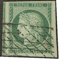 No 2b, Deux Voisins, Obl Grille Sans Fin, Superbe. - R - 1849-1850 Ceres