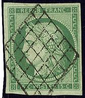 No 2b, Obl Grille, Très Frais. - TB. - R - 1849-1850 Ceres