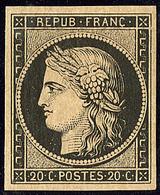 * No 3, Noir Sur Jaune, Très Frais. - TB - 1849-1850 Ceres