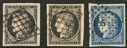 Nos 3 (2), 4, Ex Choisis. - TB - 1849-1850 Ceres