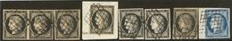 Nos 3 (7), Nuances Dont Un 5 Janv 49, 4 Bdf. - TB - 1849-1850 Ceres