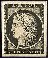 * No 3a, Noir Sur Blanc, Avec Impression Recto-verso, Très Frais. - TB - 1849-1850 Ceres