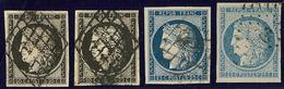 Nos 3a (2), 4a, 4f. - TB - 1849-1850 Ceres