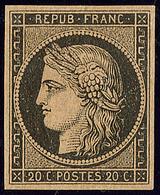 * No 3b, Noir Sur Chamois, Très Frais. - TB - 1849-1850 Ceres