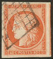 No 5, Nuance Foncée, Obl Grille, Jolie Pièce. - TB - 1849-1850 Ceres