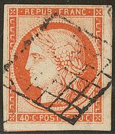 No 5, Belle Nuance, Deux Voisins, Obl Grille, Jolie Pièce. - TB - 1849-1850 Ceres