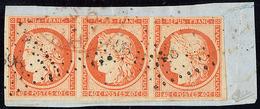 No 5, Bande De Trois, Un Voisin, Obl Pc Sur Support. - TB - 1849-1850 Ceres