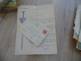 Provençal Occitan Mistral Lettre à En Tête Autographe  + Enveloppe Nacioun Gardian .Arnaud - Autographes