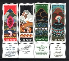 Israel 1981 Yv. 802-05, New Year, Moses, Exodus Book – Tab - MNH - Ungebraucht (mit Tabs)