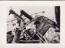 PHOTO ORIGINALE 39 / 45 WW2 WEHRMACHT SENEGAL BATAILLE DE DAKAR 1940 LE BATEAU FRANCAIS AUDACIEUSE TOUCHE PAR LES OBUS - Guerre, Militaire
