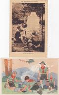 Lot De 4 Cpa - Scoutisme- Illustrateur , Eclaireurs De France, La Loi, Photo Scout Suisse - Scoutismo