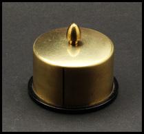 Distributeur De Roulettes. Modèle En Laiton Doré, Diam.58mm, H.32mm. - TB - Stamp Boxes