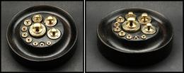 Boite En ébène De 11 Poids, De 1/200g, Diam.130, H.30mm. - TB (2e Modèle Signalé) - Boites A Timbres