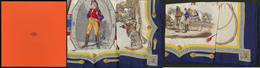 Carré De Soie Hermès, Fabriqué En 1957 Pour La Cie AIR FRANCE, Sur Le Thème De La Poste Aux Chevaux, Dans Sa Boîte, état - Boites A Timbres