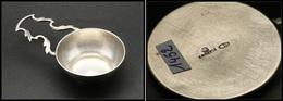 """Vide Poche De Bureau En Argent, Signé """"Fabergé"""" Avec Poinçons, Diam.75mm, L.130mm. - TB. - R - Stamp Boxes"""