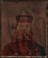 """Plaque D'imprimerie En Cuivre Pour La Reproduction (format 160x130mm) Représentant La """"Tête Du Facteur Roulin 1889"""" Par  - Boites A Timbres"""