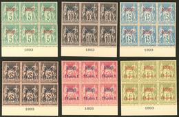 (*) Dedeagh. Nos 2, 4, 5 à 8, En Bloc De Six Avec Date 1893, Superbe. - R (cote Maury) - Dedeagh (1893-1914)
