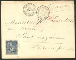 """Lettre Précurseurs. Martinique. No 51 Obl Cad St Pierre Mars 84 Sur Enveloppe Avec Cad Octog. """"Cor.d'Armées Saint Pierre - Otros"""