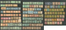 Lot. 1859-1881 (Poste), Des Valeurs Moyennes, Doubles Et Multiples, Nuances Et Obl Diverses, Qqs Ex *. - TB, B Ou Pd - Otros