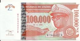 ZAIRE 100000 NOUVEAUX ZAIRES 1996 UNC P 77 - Zaire