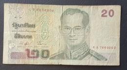 FD0513 - Thailand 20 Bhat Banknote 2003 #8A 7669203 - Thailand