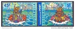 Australie - Australia 2001 Yvert 1959-60, Dragon Boats, Joint Issue With Hong Kong - MNH - 2000-09 Elizabeth II
