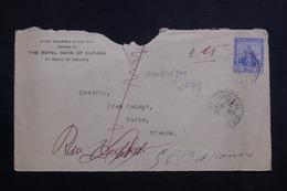 TRINITÉ ET TOBAGO - Devant D'enveloppe Commerciale En 1920 Pour La France  - L 60643 - Trinidad & Tobago (...-1961)