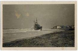 Echouage D'un Cargo à Heyst Sur Mer Par Le Photographe Maelstaf. Tirage Original D'époque, C 1920 FG1091 - Lieux