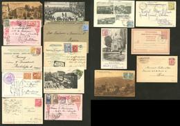 Lettre LEVANT. Lot. 1900-1928 (Poste), 16 Enveloppes Ou CP, Affts Et Obl Divers Dont Turquie Et Bureaux Français. - TB - 11. Foreign Offices