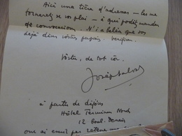 Provençal Occitan Mistral LAS Autographe Joseph Salvan Salvas - Autographes