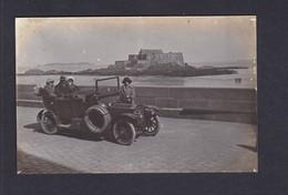 Carte Photo St Saint Malo Portrait Famille Voiture Automobile Peugeot 126 (  Archives Lemoigne Pivin   41600) - Saint Malo