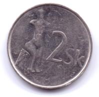 SLOVAKIA 2002: 2 Koruna, KM 13 - Eslovaquia