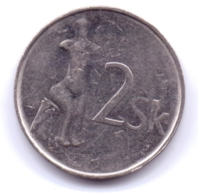 SLOVAKIA 2002: 2 Koruna, KM 13 - Slowakei