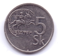 SLOVAKIA 1994: 5 Korun, KM 14 - Eslovaquia
