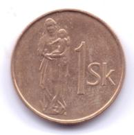 SLOVAKIA 1994: 1 Koruna, KM 12 - Eslovaquia